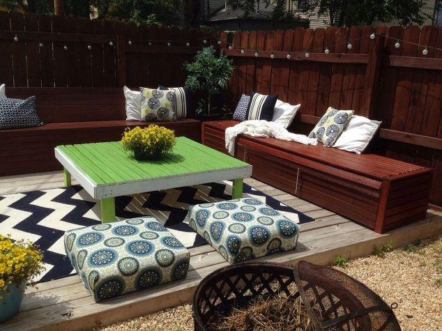 Diy budget backyard and deck makeover hometalk for Diy backyard ideas on a budget