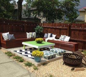 Awesome Diy Budget Backyard And Deck Makeover, Concrete Masonry, Decks, Fences,  Gardening,