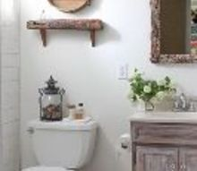 tiny bathroom makeover before and after, bathroom ideas, chalk paint, diy, home improvement, painting, small bathroom ideas, wall decor