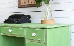 tavern green shabby chic desk, painted furniture, shabby chic