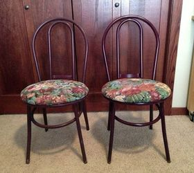 Makeover Metal Parlor Chairs, Painted Furniture, Reupholster