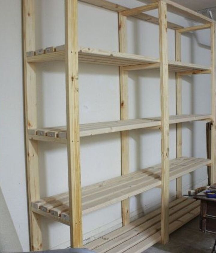 easy diy garage shelving, diy, garages, how to, shelving ideas, woodworking projects
