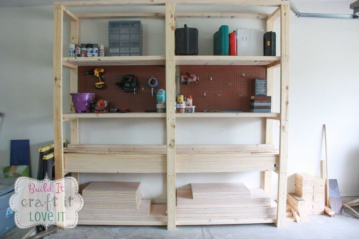 Easy Diy Garage Shelving Garages How To Ideas Woodworking