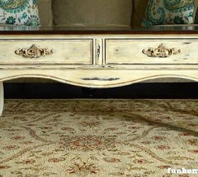 French Country Coffee Table Makeover, Chalk Paint, Painted Furniture