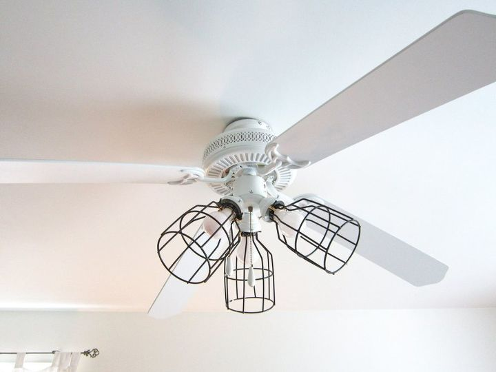 Upgraded ceiling fan light covers lighting repurposing upcycling