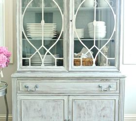 Washed Grey China Cabinet, Painted Furniture