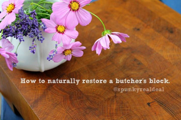how to naturally restore a butcher s block, cleaning tips, how to, kitchen design, woodworking projects