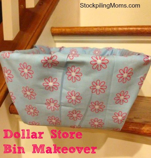 covering plastic bin with fabric, how to, storage ideas, reupholster