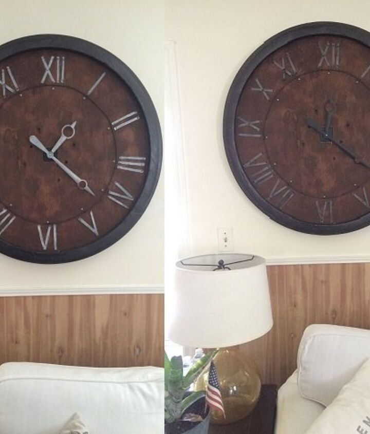 repurposed tabletop to wall clock, painted furniture, repurposing upcycling, wall decor