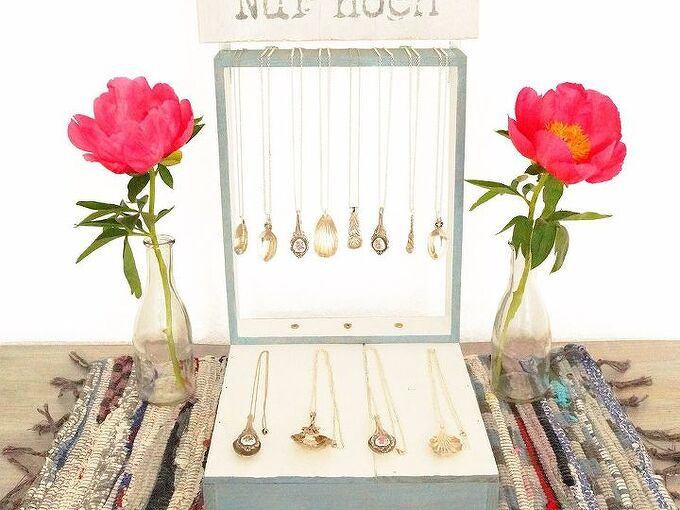 jewelry display with repurposed wood wine box, crafts, how to, organizing, repurposing upcycling