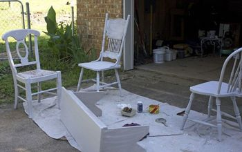 dining chairs makeover, chalk paint, painted furniture