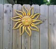 painted sun garden decor, gardening, outdoor living, painting