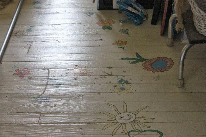 diy striped painted floor, flooring, painting