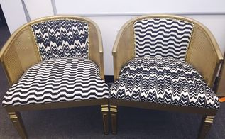 upcycled barrel chairs, painted furniture, repurposing upcycling, After