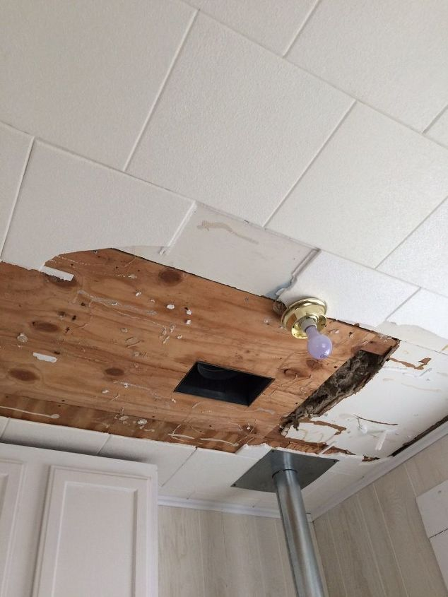 q redoing a ceiling in 1920 s house, home maintenance repairs, wall decor, Partially deconstructed ceiling