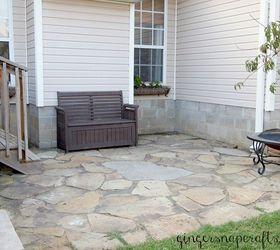 Create A Rock Patio In Your Yard, Concrete Masonry, Diy, Gardening, How