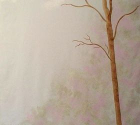 How To Turn A Bare Wall In To A Tree Mural With A Stencil, How