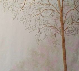 How To Turn A Bare Wall In To A Tree Mural With A Stencil, How Part 77