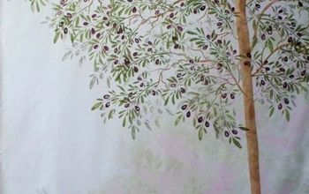how to turn a bare wall in to a tree mural with a stencil, how to, painting, wall decor
