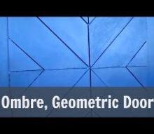 ombre painted geometric door design, doors, how to, painting