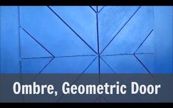 Ombre Painted, Geometric Door Design