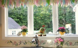 kitchen window treatment with a tension rod, kitchen design, window treatments, windows, Bay window