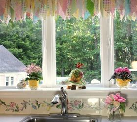 kitchen window treatment with a tension rod kitchen design window treatments windows bay window