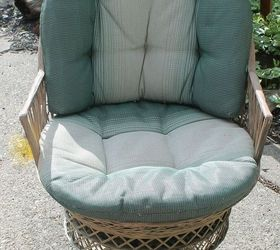 Wicker Patio Chair Set Spray Painted Makeover, Outdoor Furniture, Outdoor  Living, Painted Furniture