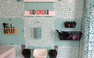 stenciled pegboard organizer, crafts, how to, organizing, wall decor