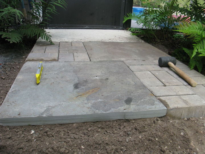 how to install a paver walkway, concrete masonry, how to, outdoor living
