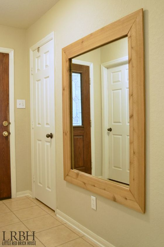Rustic Fence Picket Framed Mirror | Hometalk