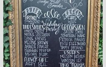 DIY Wedding Chalkboard Program