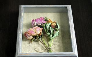 shadow box peonies, crafts, flowers, gardening, how to