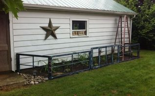 old windows to garden fence, fences, gardening, repurposing upcycling, windows, After