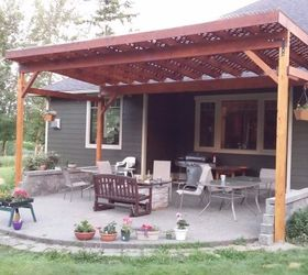 Diy Covered Patio, Diy, How To, Patio, Porches, Woodworking Projects