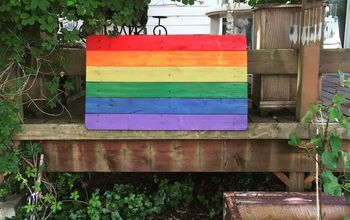 DIY Rainbow Pallet Flag!