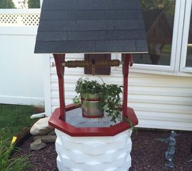 Nice How To Make A Wooden Garden Wishing Well, Gardening, How To, Outdoor Living