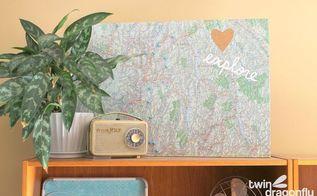 family destinations cork board map, crafts, decoupage, wall decor