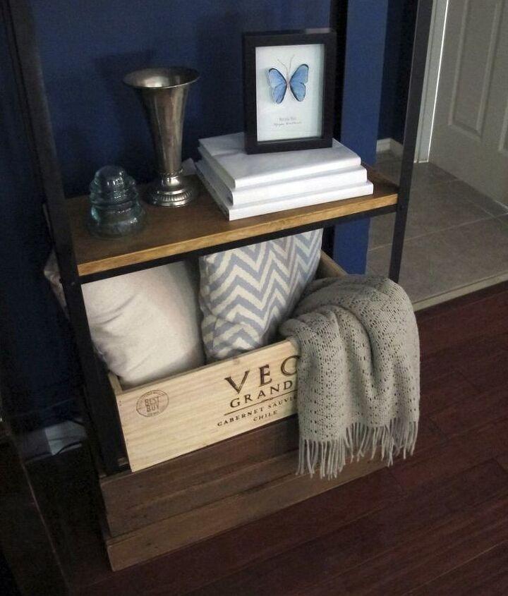 metal shelves hack, diy, how to, living room ideas, shelving ideas