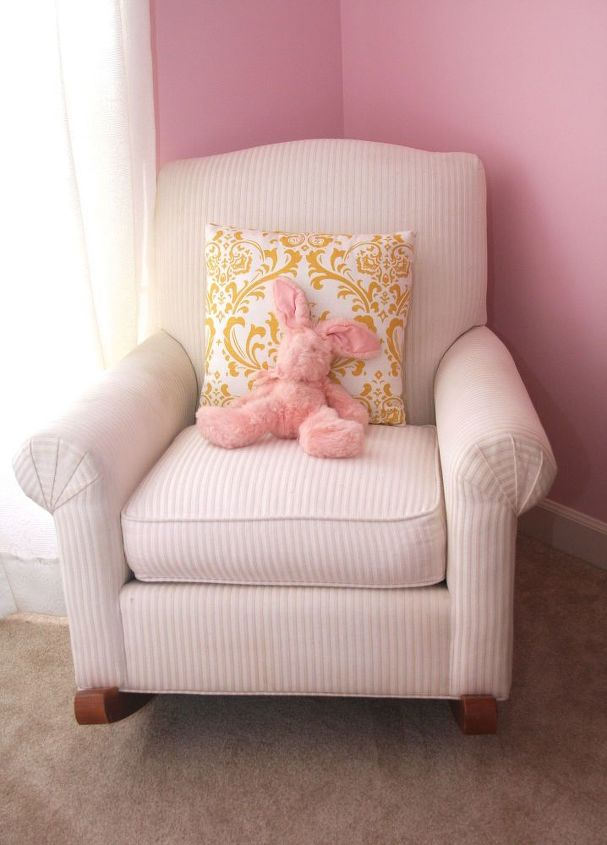 re purposing the nursery rocker, painted furniture, repurposing upcycling, reupholster