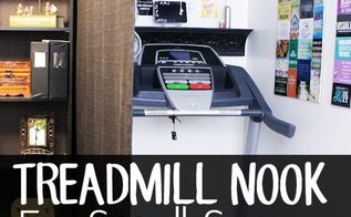 how to make a treadmill nook in a small home, home decor, how to