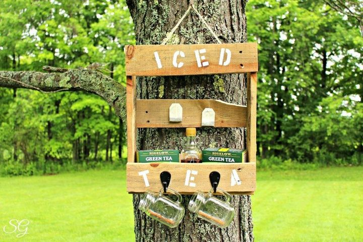 pallet iced tea station, how to, pallet, repurposing upcycling, woodworking projects