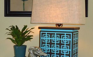 how to make and stencil a designer lamp with cutting edge stencils, crafts, how to, lighting, painting