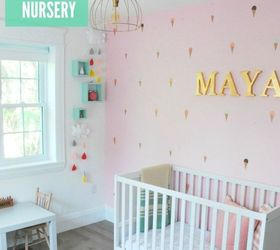 A Diy Mint Pink Nursery, Bedroom Ideas, Wall Decor