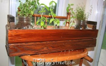 Adorable Table Top Garden Box From Reclaimed Trim