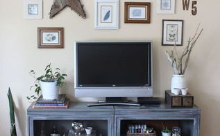 metal book cabinet to industrial tv stand, painted furniture, repurposing upcycling