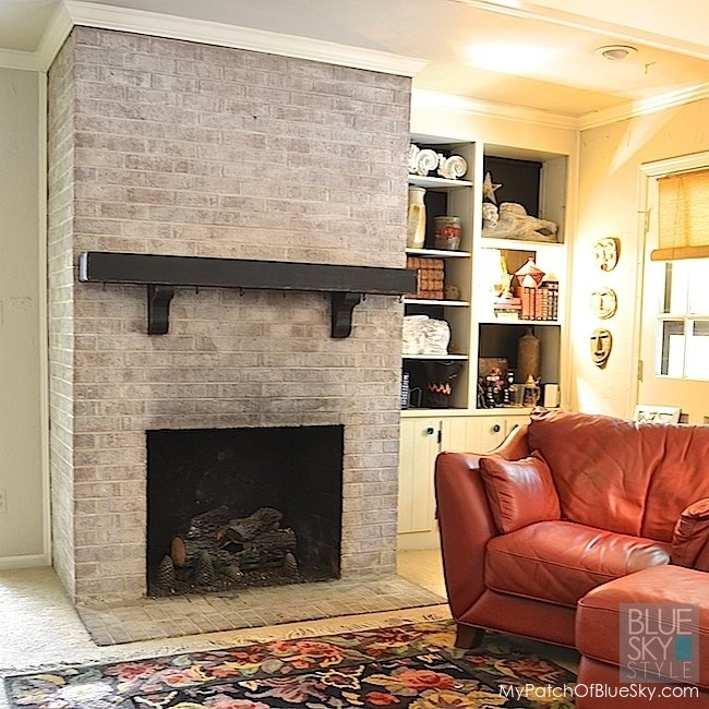 Brick Fireplace Makeover With Fusion Mineral Paint Fireplaces Mantels Painting