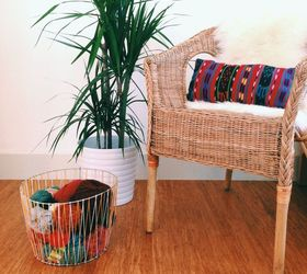 Diy Woven Basket From A Tomato Cage, Crafts, Diy, Home Decor, Ta