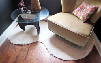 How to:  a DIY Rug Done in 15 for Less Than $15!