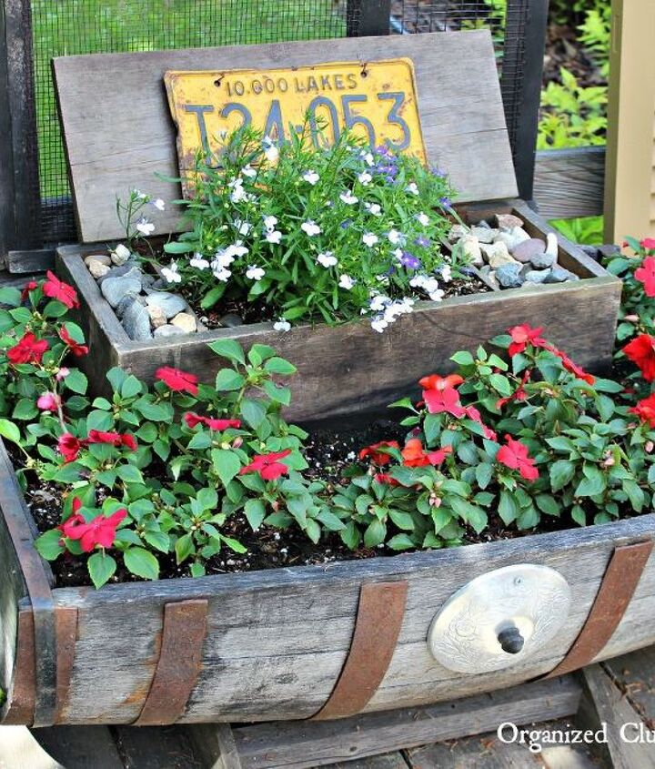 how to add vertical interest to your flower beds containers, container gardening, flowers, gardening, how to, outdoor living